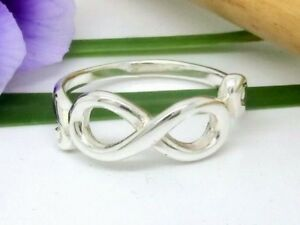 Unendlichkeit 925 Silber Ring Infinity Love Liebe Freundschaft Silberring