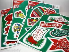 3PC LOT ASSORTED CHRISTMAS STICK AROUND LARGE SHEETS ASSORTED STYLES HOLIDAY