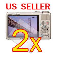2x Canon PowerShot S100 Digital Camera LCD Screen Protector Cover Guard Film