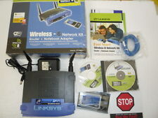 LINKSYS Wireless B Router + Notebook Adapter with Original Box