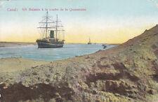 "* STEAMSHIP - ""Balarata"" à la courbe de la Quarantaine, Canal Suez"