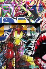 iron Man Street art by Andy Baker Australia Not Banksy poster print painting COA