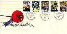 1990 The ANZAC Tradition FDC - Broadbeach Qld 4218 PMK
