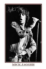 MICK JAGGER - LARGE SIGNED POSTER SIZE PHOTO PRINT - LOOKS GREAT FRAMED
