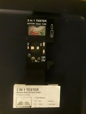3 In 1 Battery, Bulb & Fuse Tester By Msr Imports Inc.