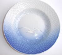"Royal Copenhagen Blue White Seagulls Dessert Soup Bowl 7 5/8"" Fish Scale Denmark"