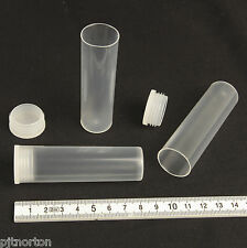 20 Tubes 80 x 24mm Plastic Vial Internal Push Cap container 25ml polypropylene