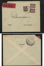Indo China  express mail cover to  Thailand  1932              APL0129