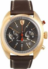 Ferrari Men's Bracelet Quartz Black Dial Chronograph Watch 0830210