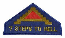 7TH ARMY 7 STEPS TO HELL SHOULDER PATCH. Color. Veteran Owned Business.