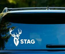STAG STICKER CAR DECAL 150x150mm DEER STICKER HUNTING CAR WHITE SAMBAR RED DEER