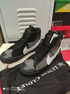 Nike blazer x off white us 6 cm 24 black come nuove