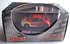 """Schuco 1:87 Scale VW New Beetle RSI  """"Fire"""" Die-Cast Metal NEW"""