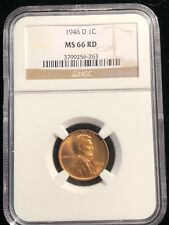 1946 D Lincoln Wheat Cent NGC MS 66 RD Beautiful Problem Free Investment 263