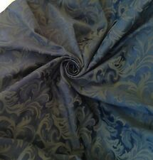 Prestigious Navy Jacquard Damask Brocade Curtain & Interior Fabric Per Metre