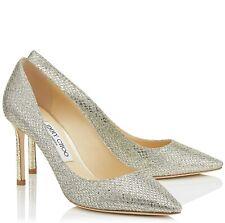 Jimmy Choo Romy 85 Champagne Silver Glitter Heels Court Stiletto Size Uk 9 Eu 42