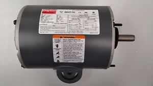 DAYTON 6K411G AIR CIRCULATOR MOTOR 1/2 HP Split Phase 1725 RPM 115/230V Yoke 1PH