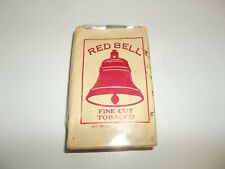 Vintage Red Bell Fine Cut Tobacco Package Collectible Tobacciana 1 1/2 Oz.