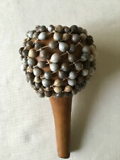 African Shekere Musical Shaker - Hand Percussion Rattle - Gourd & Weave of Beads