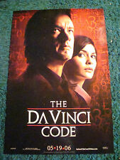THE DA VINCI CODE - ADVANCE MOVIE POSTER WITH TOM HANKS AND AUDREY TAUTOU