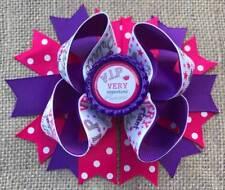 "VIP Very Important Princess Pink Purple Bottle Cap Hair Bow 5"""