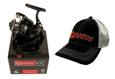 BUNDLE - QUANTUM SMOKE PT SL25SPTIA 5.2:1 SPINNING REEL WITH HAT