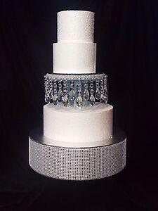 "Crystal droplet Cake Separator  6""  8"" 10"" diameters - scroll to see video clip"