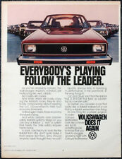 VOLKSWAGEN RABBIT GOLF CARS 1979 ADVERT POSTER PAGE