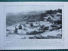 1915 WWI WW1 PRINT ~ PICKED MARKSMEN SEEKING THE BOCHES SAND0DUNES WEST FLANDERS