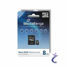 MediaRange 8GB Mobile Micro SDHC Flash Speicherkarte Class 4 + SD Card Adapter