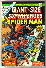 Giant Size Super-Heroes #1 Spider-Man, Man-Wolf, Morbius Marvel Comic Book ~ Vf