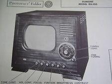 DUMONT RA-105 TELEVISION PHOTOFACT