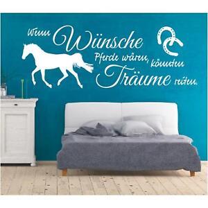 Wandtattoo Spruch  Wünsche Pferde Träume reiten Wandaufkleber Wandsticker 4