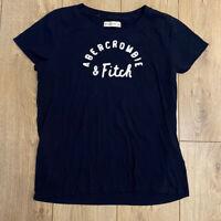 Abercrombie & Fitch Women's T Shirt Blue Large Cotton Blend S/S