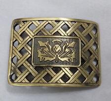 New Scottish Thistle Lattice Belt Buckle Antique Finish/Kilt Belt Buckle Lattice