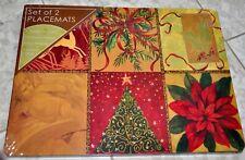 4 Benson Mills Set Holiday Christmas Spirit Hardboard Cork Placemats New Sealed