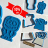 Halloween Collection Set - cookie cutters - 4pcs - Plastic 3d printed (PLA)