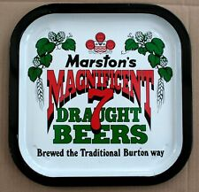 MARSTON'S Magnificent 7 Vintage Advertising Pub Bar Brewery Beer drinks tray