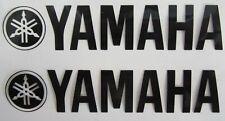 2x Aufkleber Sticker Yamaha 140 x 30 mm schwarz!