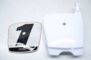 United Motors SY1P08WH, 53112-K1250WH Front Number Plate White NOS
