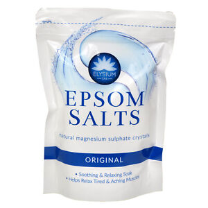 Elysium Spa Epsom Bath Salts Natural Magnesium Sulphate Relax Muscle Aches Pain