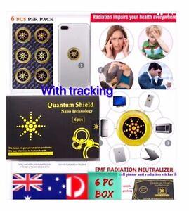 6 X Anti Radiation Quantum Shield EMF  Protection Neutraliser Chip Stickers Box