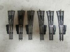 6 ATLAS NICKLE/SILVER SWITCH TURNOUTS CODE 80 N-SCALE  (LOT 81)