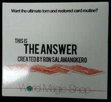 The Answer by Ron Salamangkero - Magic Dvd