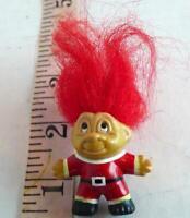 Santa Claus Troll brooch pin Vintage 1989