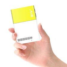 Artlii Fun Portable Mini Home Support 1080P Video Projector with USB/SD/AV/HDMI