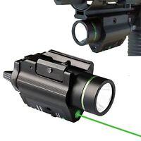 Tactical Combo LED Flashlight Green Laser Sight for Pistol gun