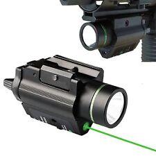 Green Dot Laser/CREE Flashlight Combo Sight Bright Weaver Picatinny Rail 20mm R1