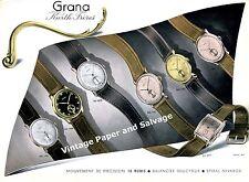 Vintage 1942 Grana Watch Company Kurth Freres SA Switzerland 1940s Swiss Advert