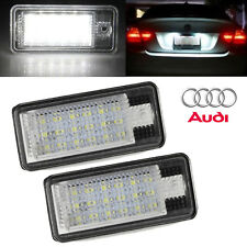 2X White 18LED SMD Number License Plate Lamp Light For Audi A3 S3 A4 A6 B6 B7 Q7
